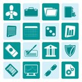 One tone Business and Office Icons Stock Photography
