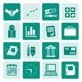 One tone Business and Office icons. Vector Icon Set Royalty Free Stock Images