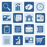 One tone Business and Office Internet Icons. Vector Icon Set 3 Royalty Free Stock Photos