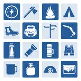 One tone Tourism and Holiday icons Stock Images