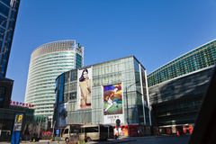 One of the top shopping center in Beijing Stock Photos