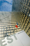 One the tower of the new national library F. Mitterand at Paris Stock Image