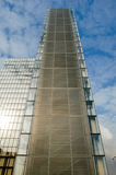 One the tower of the new national library F. Mitterand at Paris Stock Photography