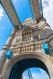 One tower of the Tower Bridge in London, UK Stock Image
