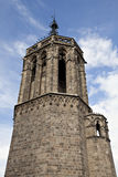 One of the towers of the Barcelona Cathedral Stock Photo