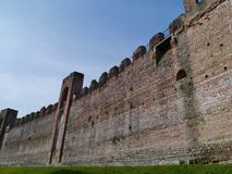 One of towers in the city wall of Cittadella Royalty Free Stock Photography