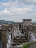 One of the towers at Conwy Castle, Wales Stock Image