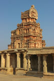 One of the towers of the Krishna temple in Hampi Royalty Free Stock Photography