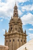One of the towers of the National Museum in Barcelona, Spain royalty free stock photos