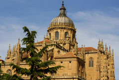 One of the towers of the New Cathedral of Salamanca, Spain, UNES Stock Photography