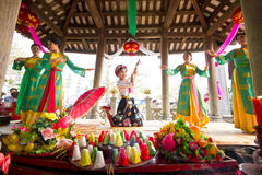 One of the traditional festivals in Vietnam Royalty Free Stock Image