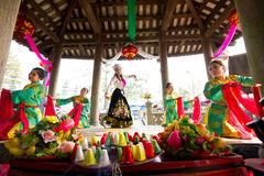 One of the traditional festivals in Vietnam Royalty Free Stock Photo
