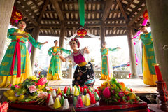 One of the traditional festivals in Vietnam Royalty Free Stock Photos