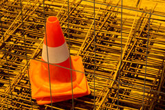 One Traffic cone Royalty Free Stock Photography