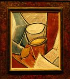 Photo of the original painting `Pots and Lemon` by Pablo Picasso Royalty Free Stock Images