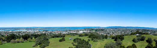 One Tree Hill,Auckland New Zealand. Panorama view from the One Tree Hill,Auckland New Zealand Stock Photo