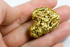One Troy Ounce California Gold Nugget Royalty Free Stock Photo