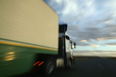 One truck overtaking Stock Photo