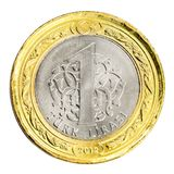 One Turkish Lira. Coin (front) Isolated on white background Royalty Free Stock Photos