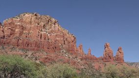 Arizona, Sedona, One of the Twin Buttes and The Two Nuns near the Chapel of the Holy Cross