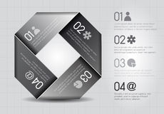 One two free four -  options in grey. One two free four -  options on grey background Royalty Free Stock Photo