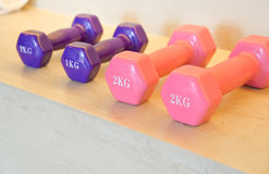One and two kilogram weight Royalty Free Stock Image