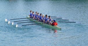 One, two, one two. Students team in Zagreb Croatia preparing for competition Stock Photo