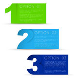 One two thre - vector progress background Royalty Free Stock Photos