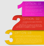 One two thre - vector progress background Stock Photography