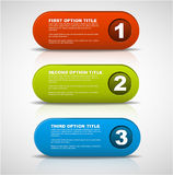 One two three - 3D vector progress buttons Stock Images