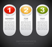 One two three - colore paper progress steps Stock Photography