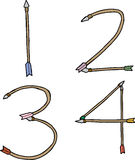 One, Two, Three and Four Arrows Royalty Free Stock Images