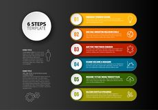 Vector progress six steps template Royalty Free Stock Image
