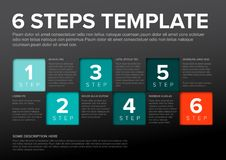 Vector progress six steps template Stock Photography