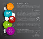 One two three four five - vector progress icons for five steps Royalty Free Stock Photography