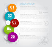 One two three four five - vector progress icons for five steps vector illustration