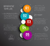 One two three four five - vector progress icons for five steps Royalty Free Stock Image