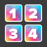 One Two Three Four steps Royalty Free Stock Photos