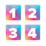 One Two Three Four steps Royalty Free Stock Images
