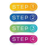 One Two Three Four steps progress Royalty Free Stock Images