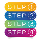 One Two Three Four steps progress Stock Photography