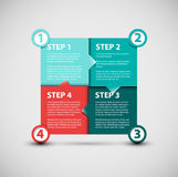 One two three four - vector paper progress steps royalty free illustration