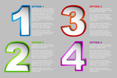 One two three four - vector progress background royalty free illustration