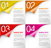 One Two Three Four - Vector Progress Background Royalty Free Stock Images
