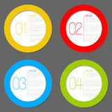 One two three four - vector progress icons. For four steps Stock Photos