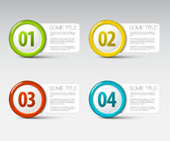 One two three four - vector progress icons Royalty Free Stock Photography