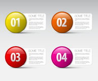One two three four - vector progress icons vector illustration