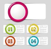 One two three four - vector progress icons Stock Photo