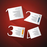 One, Two, Three, Four, Vector Steps for Tutorial Stock Images
