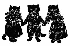 One, Two, Three Kittens Stock Photos